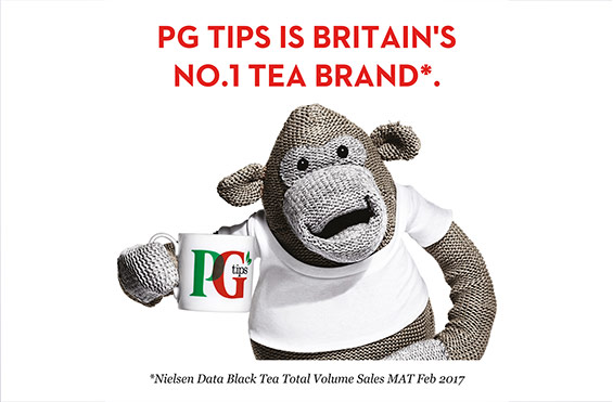PG tips is Britain's favourite tea brand