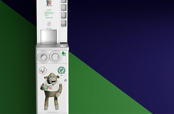 PG tips tea to go machine is easy to clean