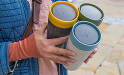 Durable reusable coffee cup
