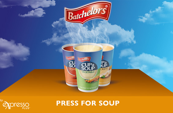Batchelors self serve soup vending machine