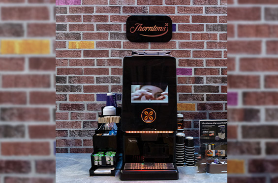 Thorntons table top hot chocolate self serving machine